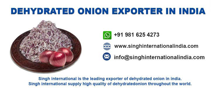 Dehydrated Onion Exporter in India