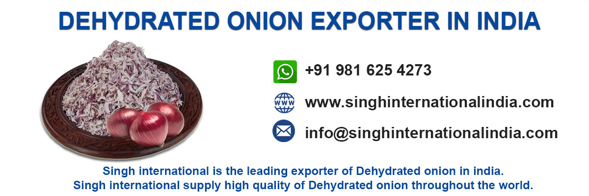 Dehydrated onion Exported in India